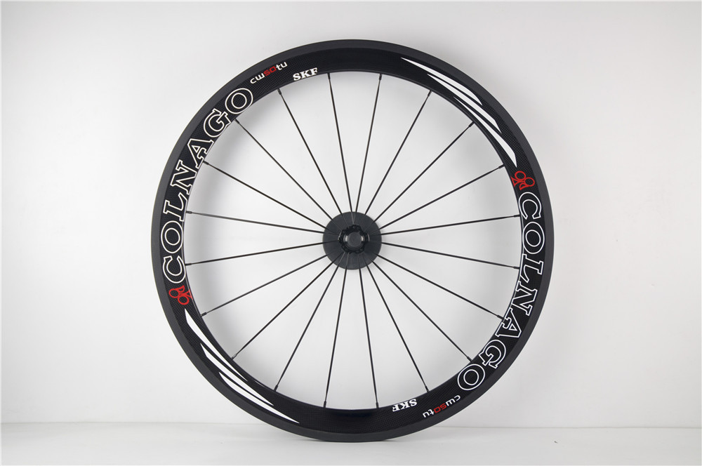 colnago painting 50mm clincher carbon fiber road bike wheels 700C cycle racing bicycle wheels(China (Mainland))