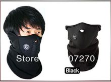 Free shipping Ski Snowboard Bike Motorcycle face mask helmet Neck Warm black New(China (Mainland))