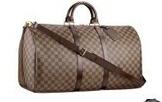Hot Sell!!Free shipping women's Canvas Keepall  55 cm  Handbag N41428 Bag handbag Come with dust bag(China (Mainland))