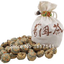 100pcs/bag Ginseng flower Pu'er tea+Gift bag Free, Mini Yunnan Puer tea ,Chinese tea Free Shipping