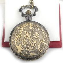 Cool Retro Pocket Watch Bronze Steampunk Human Skeleton Pocket Watch For Men Gifts Fashion Jewelry