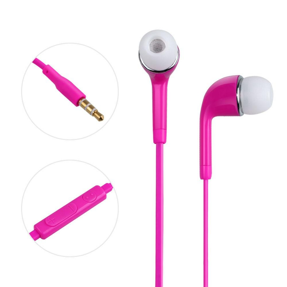 Sony earphones red - wired earbuds with microphone sony