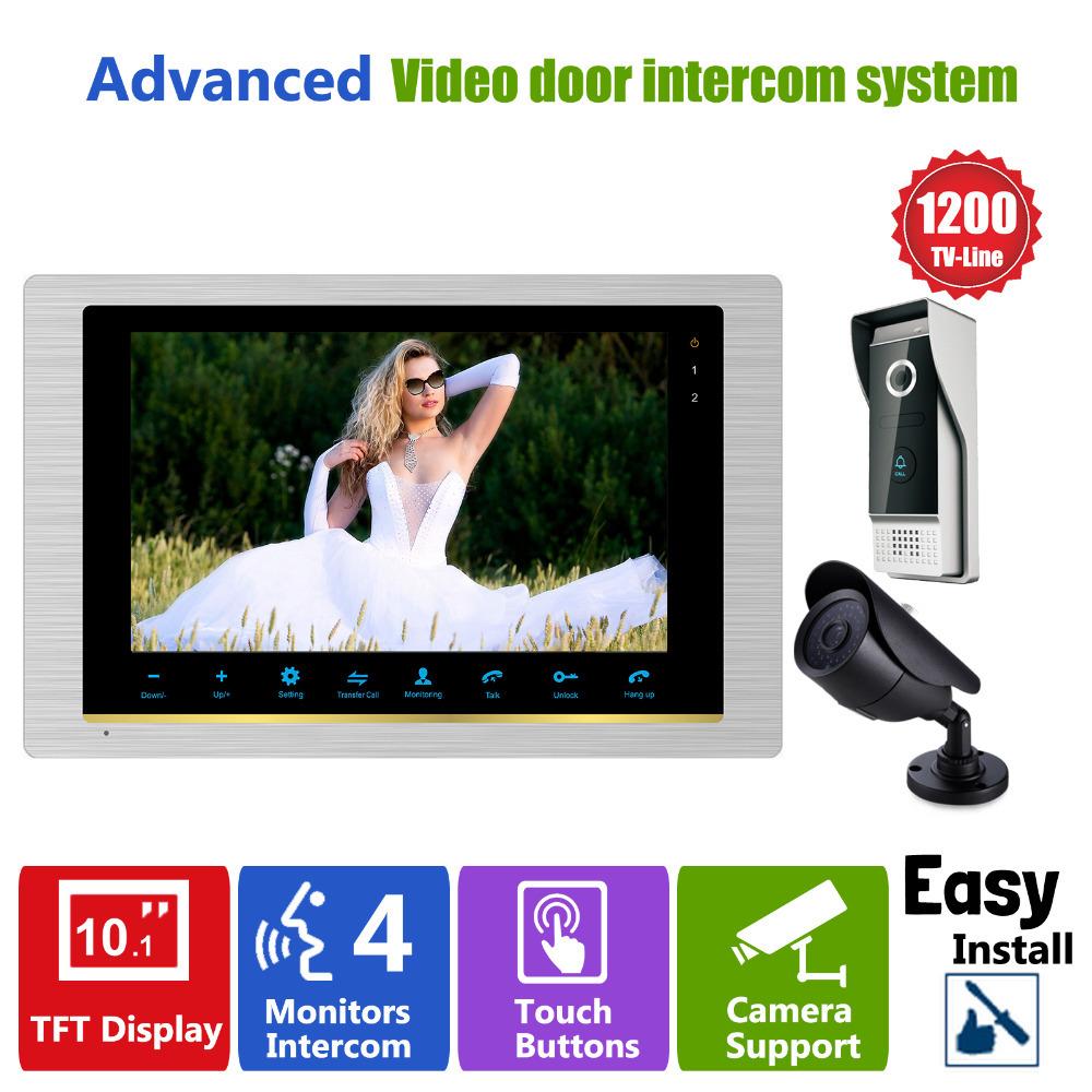 "YSECU Video Door Phone Intercom Doorbell Camera system Quality Indoor Monitor 10"" CCTV Security Door Access Control Rainproof(China (Mainland))"