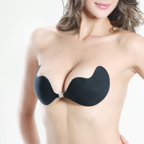 Women Self-Adhesive Push Up Silicone Bust Front Closure Strapless Invisible Bra Silicone Free Shipping