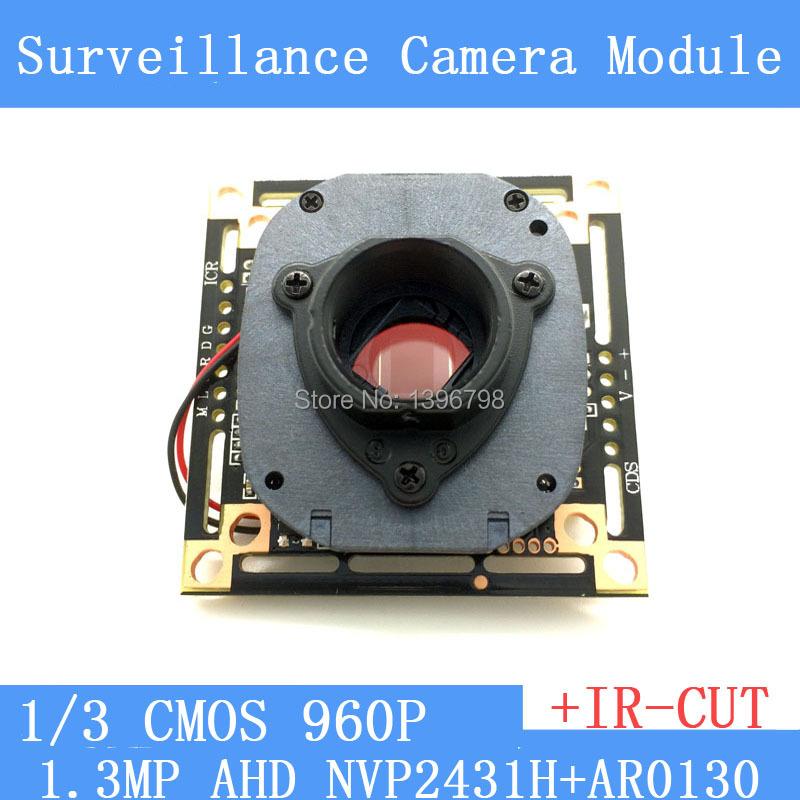 "1.3MegaPixel 1280*960 AHD 960P Camera Module Circuit Board , 1/3"" CMOS NVP2431H + AR0130 PCB Board+ HD IR-CUT dual-filter switch(China (Mainland))"