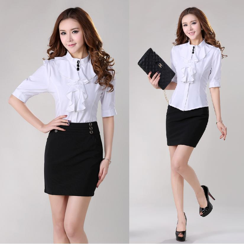 Skirt And Blouse Sets For Ladies - Smart Casual Blouse