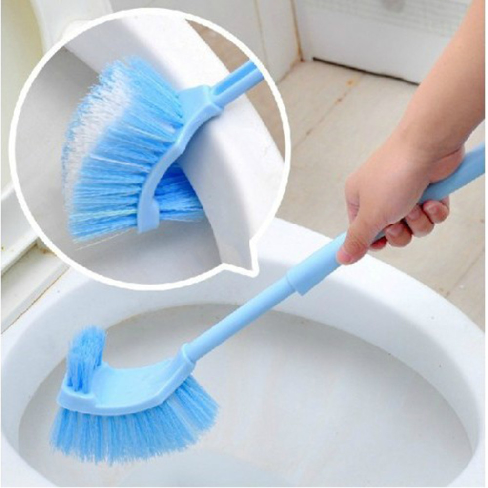 Plastic Long Handle Bathroom Toilet Bowl Scrub Double Side Cleaning Brush In Toilet Brush