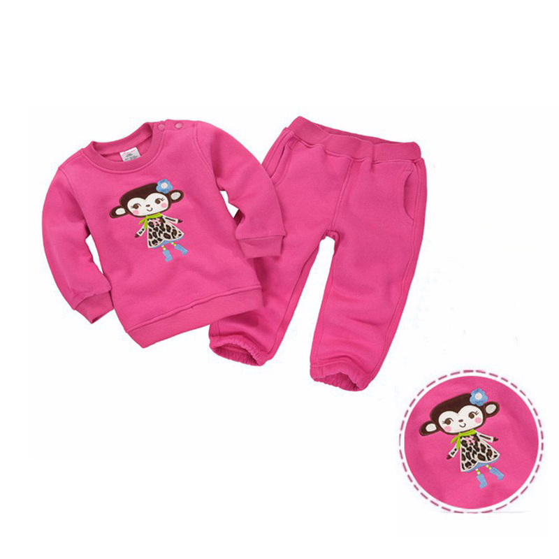 2015 Spring Autumn Baby's Clothes Sets Kids Boys Girls Cotton Suit Baby Sports Wear Clothes suits Tops+Pants(China (Mainland))
