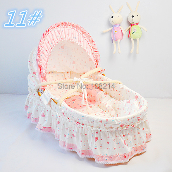 Portable Sleeping Baskets Newborn Baby Carry Cot Cradle 100% Cotton Travel Bed Baby Corn Bran Woven Baby Bassinets 11 Colors<br><br>Aliexpress
