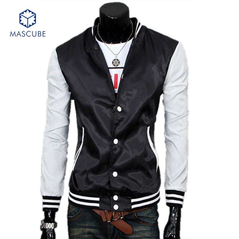 New Design Stand Collar Adult Sportwears Fashion Classic Mens Slim Fit College Style Baseball Jacket Casual Sport Jacket Men(China (Mainland))