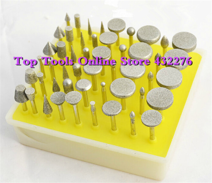 50PCS/set small Diamond grinding head Grinding wheel Bur grinder Dremel Rotary Tools - Top Online Store 432276 store