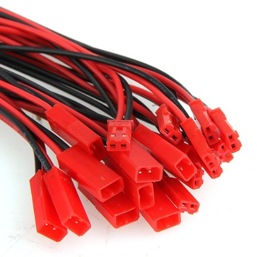 DSHA New Hot 10 Pairs 150mm JST Connector Plug Cable Male+Female for RC Battery