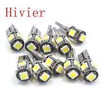 Wholesale new High Quality Canbus White 10x T10 5smd 5 smd 5050 Led Car Light W5w 194 Error Bulbs free Shipping(China (Mainland))