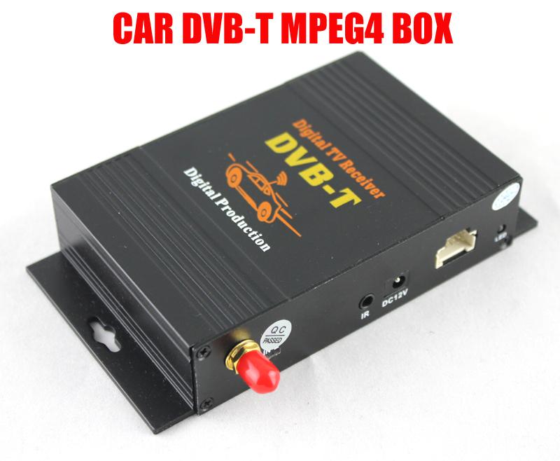 Car DVB-T receiver Car Digital TV receiver Auto Tuner H.264 MPEG4 Digital SET TOP BOX(Hong Kong)