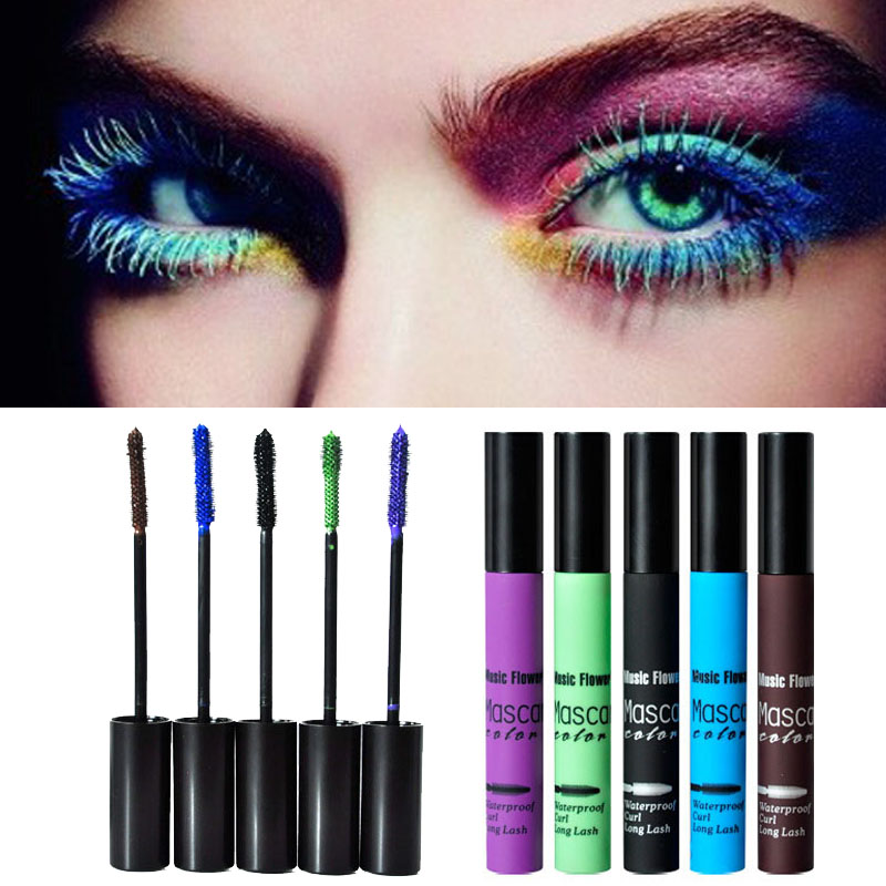 Big eyes mascara Cosmetic Makeup Extension Length Long Curling Black purple green blue brown Mascara party queen A2(China (Mainland))