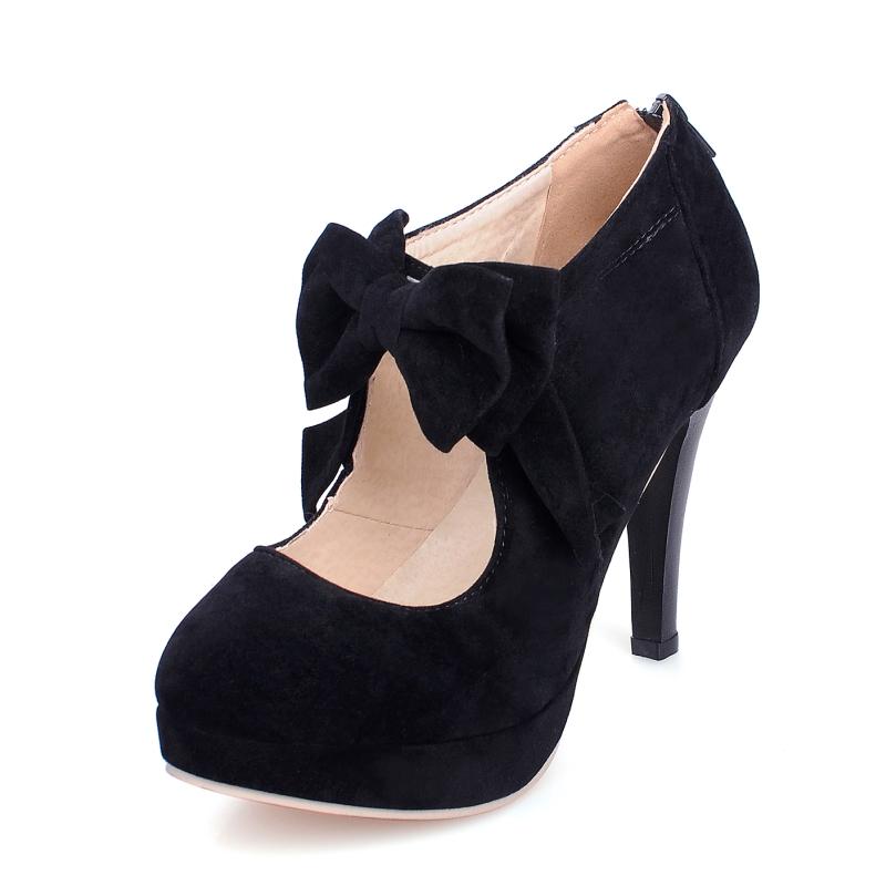 size big 34 43 new 2016 fashion platform high heels women. Black Bedroom Furniture Sets. Home Design Ideas