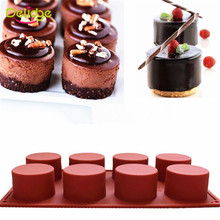 1 Pc 8 Holes Round Shape Silicone Cake Mold 3D Handmade Cupcake Jelly Pudding Cookie Mini Muffin Soap Mold DIY Baking Tools(China (Mainland))