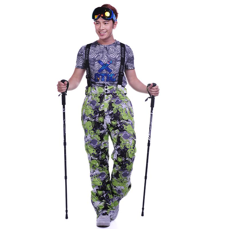2016 New Men Snowboarding Pants Fashion Lover Style Ski Pants Winter Snowboard Pants Outdoor Waterproof Sport Women Ski Calca