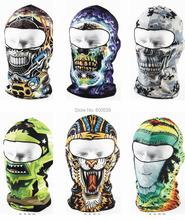 New Patterns Cool Motorcycle Balaclava Face Mask Cycling Ski Hat Veil Assorted Styles Free shipping(China (Mainland))