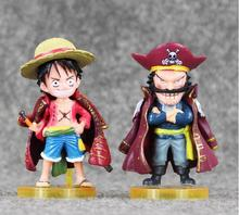 One Piece Monkey D Luffy Gol D Roger Action Figure 8 cm 3 inches PVC Model Japanese Anime Cartoon Toy