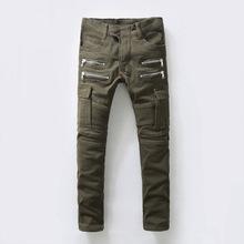 2016 new mans balmans jeans brand famous brand mens jeans Retro Bronze balmai men Modern ripped skinny free shipping(China (Mainland))