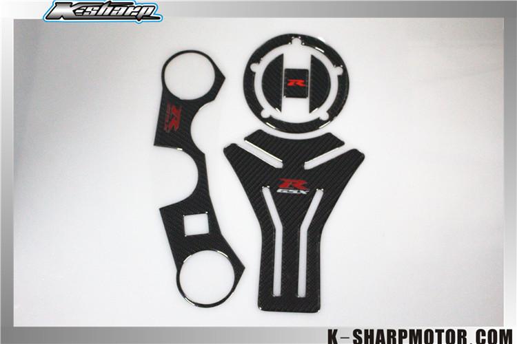 K-SHARP Carbon ADESIVI 3D Sticker Decal Emblem Protector Tank Pad For GSXR 600 750 06-12<br><br>Aliexpress