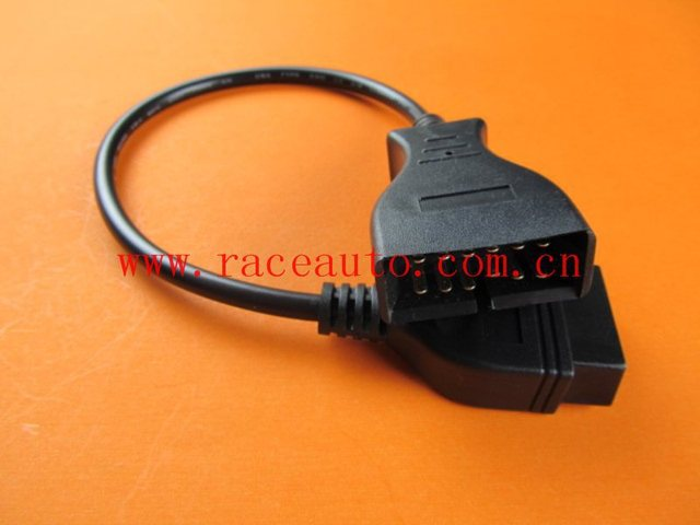 2014 Best-Selling 5Piece/Lot  Auto Connecting Cable For GM 12Pin to OBD2 16P Female Adapter with Free shipping