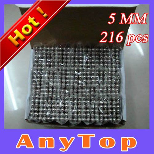 EMS Free Shipping, 100sets/lot 5mmX216pcs Nickel Color Buckyballs Bucky Magnet Balls Puzzle Neocube Magic Cube with OPP packing(China (Mainland))