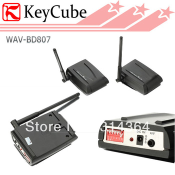 Hot sale! New 2.4GHz 2500MW 4 Channel 2.5W  Wireless AV Transmitter and Receiver  Sender for CCTV Free Shipping