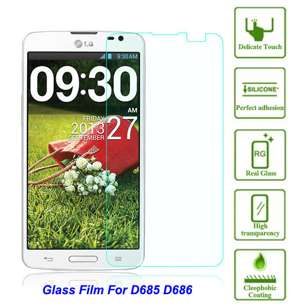 "0.3mm Screen Protector On Phone safety Protective Tempered Glass Film For LG D685 G Pro Lite D686 D680 D682 D683 5.5""(China (Mainland))"