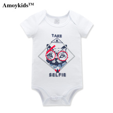 Amoykids High Quality Long Sleeved Thick Cotton Baby Clothing Newborn Baby Boys And Girls Jumpsuit Costume