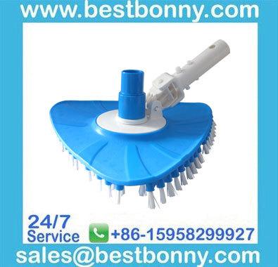Swimming pool flexible triangular vacuum head brush with EZ Clip Handle(China (Mainland))