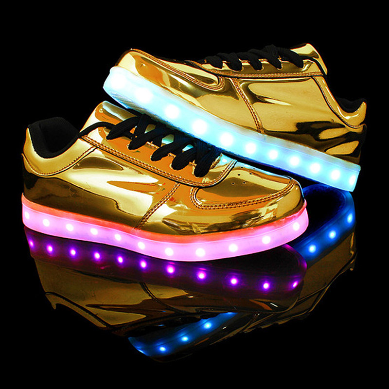 Mens shoes casual Led light shoes woman 2016 fashion colorful women led shoes for adults(China (Mainland))