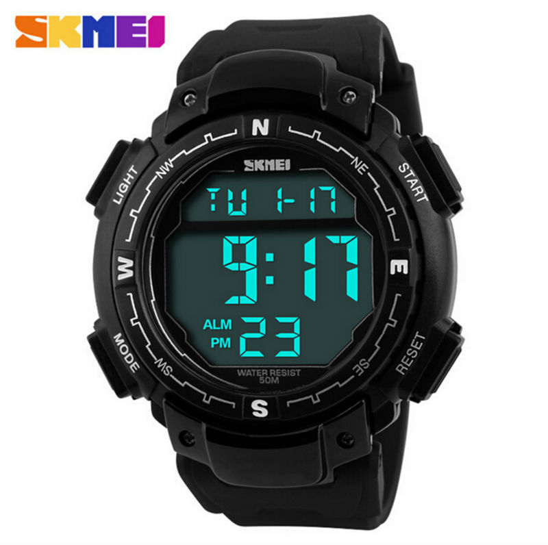 New Mens Fashion Wrist Relogios Digital Led Watch Skmei ...