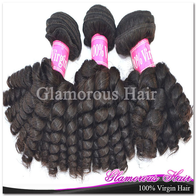 Glamorous DHL free shipping 3pcs/lot 7A Grade Natural Color Baby Curly Aliexpress Hair Brazilian Hair Extension