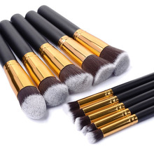 10 Pieces Black/Golden Makeup Brushes Make Up Brushes Beauty Brush Pincel Maquiagem Profissional Maquillaje Pinceaux Maquillage