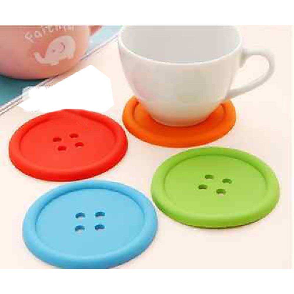 Vorkin 1XSilicone Coffee Placemat Button Coaster Cup Mug Glass Beverage Holder Pad Mat Free Shipping(China (Mainland))