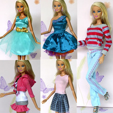New Arrival Doll Clothes Set Dress for Barbie Doll 5pcs/lot Doll Accessories Girl's Gift Toy Doll Clothing Free Shipping(China (Mainland))