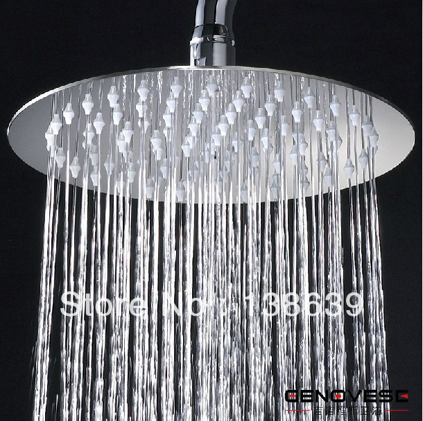 8 inch chrome Stainless steel rainfall shower head,round top shower, - Maia Sanitary store