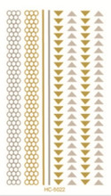 HC-5022 New Arrival Waterproof Tattoo Glitter Body Art Paint Gold Temporary Tattoo Stickers Feather Design Metallic Flash Tattoo