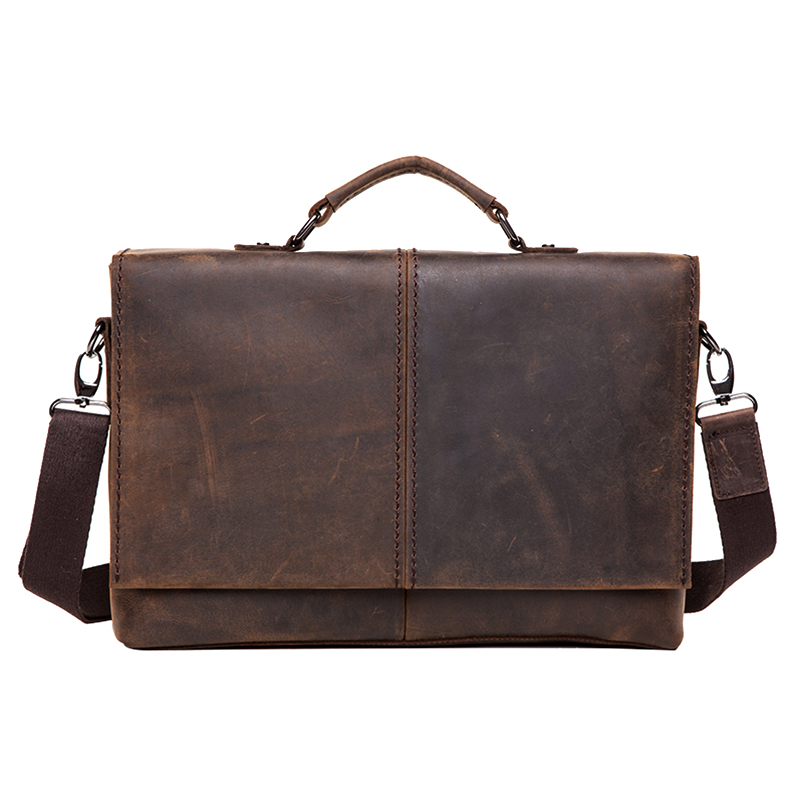Cattle commercial genuine leather briefcase male vintage crazy horse leather briefcase 1079<br><br>Aliexpress