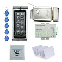 Buy K2 Standalone EM125KHz RFID keypad Access control DIY kit set Access control Door lock system metal control lock cards for $68.69 in AliExpress store