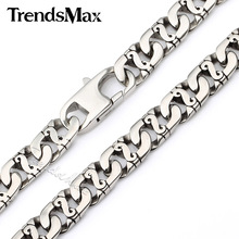 Buy Trendsmax 9.5mm Wide Mens Chain Boys Biker 316L Stainless Steel Necklace Wholesale Top Christmas Gift 18-36 inch HN01 for $15.38 in AliExpress store