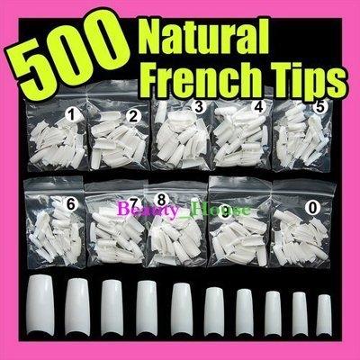 500pcs/pack White false french nail art tips uv acrylic NEW Wholesale/Retail