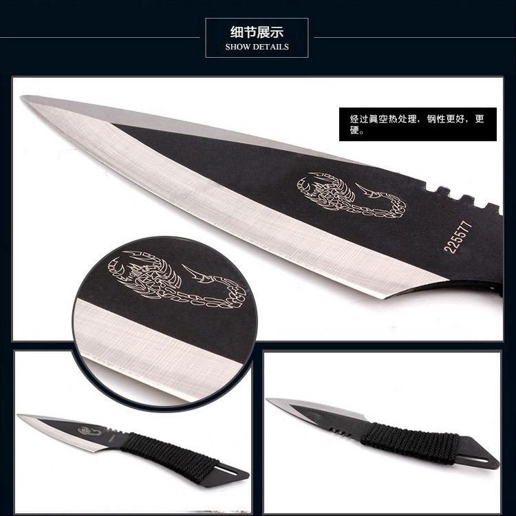 Buy 1 set 3 in 1 Knife Tactical Fixed Blade Knife Survival Outdoor Camping Knives Stainless Steel Tactical Pocket Knife tool+Sheath cheap