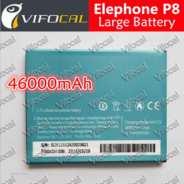 Гаджет  Elephone P8 Battery Large 4600mAh 100% Original Replacement Accessories For STAR N9000+ Mobile Phone + Free Shipping + In Stock None Бытовая электроника