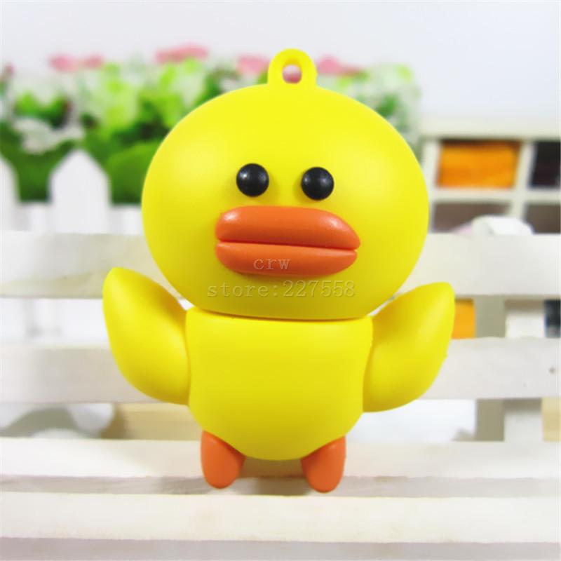 pen drive animal yellow duck 8gb16gb/32gb/64gb bulk usb 2.0 flash drive flash memory stick pendrive(China (Mainland))