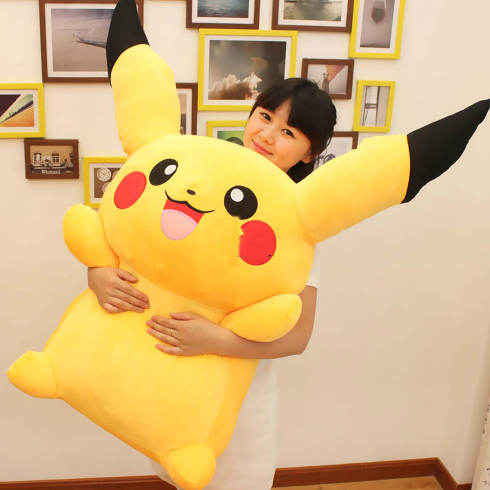 47'' / 120cm Japan Anime Pikachu Stuffed Soft Plush Giant Pikachu Toy Nice Present for Baby Free Shipping(China (Mainland))