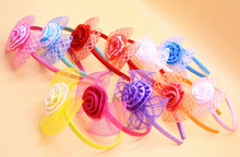 Buy Cute Candy Ribbon Bows Baby Girls Hairbands Flower Kids Headband Children Hair Hoop Tiara Hair Accessories Girl for $1.01 in AliExpress store