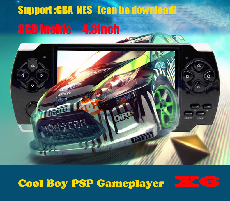 36 languages 8GB Video Game Console 4.3 inch MP4 MP5 Players Handheld Game Player free 500games ebook/FM/1.3 MP Camera(China (Mainland))
